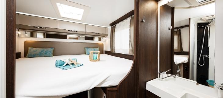 Slaapgedeelte + badkamer Porta Superia Mobilhome