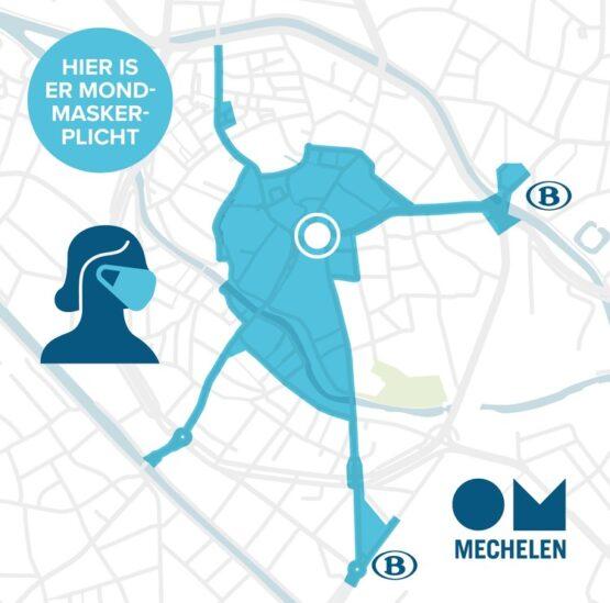 Mond Masker Plicht Mechelen