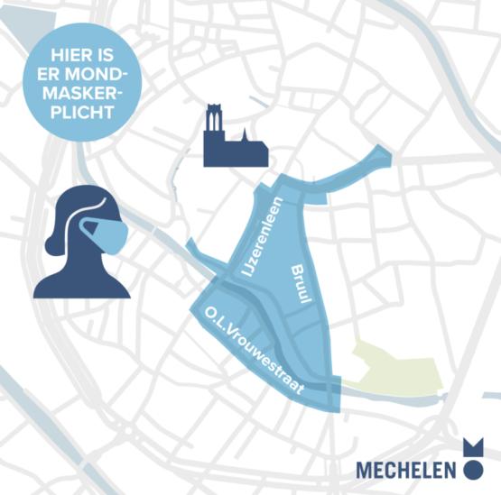 Plan Mouthmask Duty from June 8, 2021 in Mechelen
